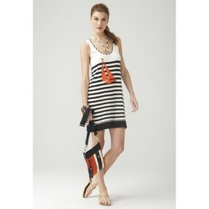 Milly NY Nautical Stripe Boat Graphic Tank Dress